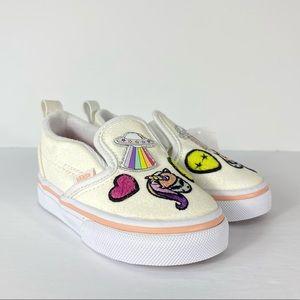 Vans Slip-On V Unicorn Alien Glitter White Shoes